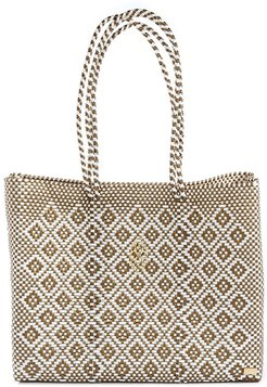 Gold Aztec Travel Tote Bag With Clutch