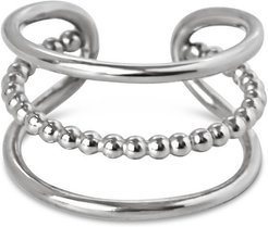 Bead Between The Lines Ring - Silver