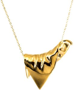 Plié Pendant Draped Triangle Medium