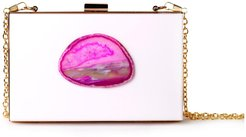 Agate Evening Clutch White & Pink