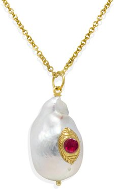 The Eye Pink Ruby Pendant Necklace