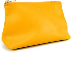 Roam Leather Zip Pouch - Yellow