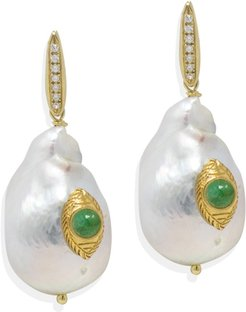 The Eye Pearl & Emerald Earrings