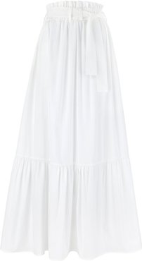 Cindy White Maxi Skirt