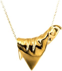 Plié Pendant Draped Triangle Large