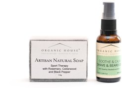 Shave & Beard Oil Natural Soap Gift Set- Soothe & Calm