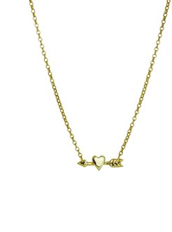 Heart and Arrow Charm Necklace