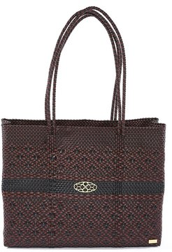 Aztec Black Burgundy Travel Tote Bag With Clutch