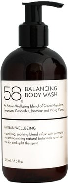 58 Balancing Body Wash & Shower Gel With Extracts Of Fennel & Jasmine 250 Ml