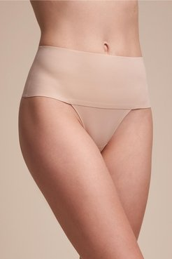 Spanx Smoothing Thong In Almond - Size: Xs - at BHLDN