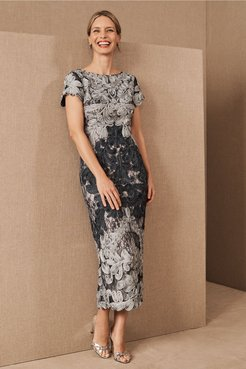Js Collection Santiago Dress In Cloud/navy - Size: 10 - at BHLDN
