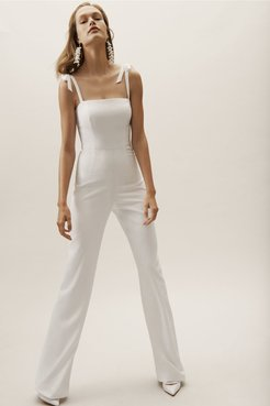BHLDN's Theia Theia Trinity Jumpsuit in Ivory