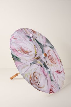 BHLDN's Lily-Lark Floral Parasol in Pink