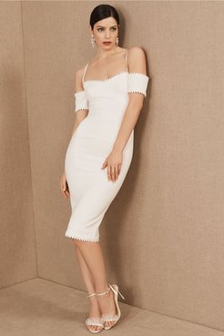Dress The Population Adrian In Off White - Size: M - at BHLDN