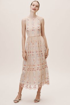 Parsons Dress In Blush - Size: 10