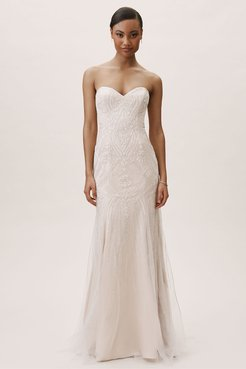 BHLDN's Whispers & Echoes Whispers & Echoes Amherst Gown in Almond