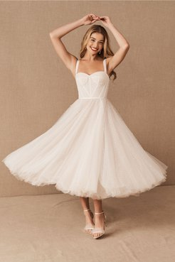 Lynette Gown In Ivory - Size: 00 - at BHLDN