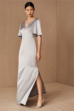 Monique Lhuillier Bridesmaids Caswell Dress In Dove - Size: 18 - at BHLDN
