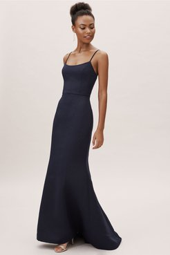 Moe Dress In Navy - Size: 2 - at BHLDN