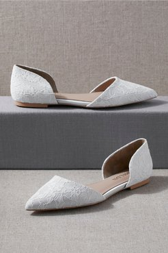Ischia Flats In White - Size: 10