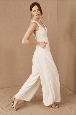 Galway Jumpsuit In Ivory - Size: 2 - at BHLDN