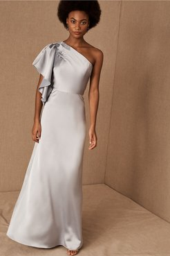 Monique Lhuillier Bridesmaids Clarelle Dress In Dove - Size: 12 - at BHLDN