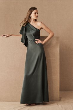 Monique Lhuillier Bridesmaids Clarelle Dress In Forest - Size: 8 - at BHLDN