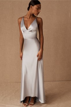 Monique Lhuillier Bridesmaids Maribelle Dress In Dove - Size: 16 - at BHLDN