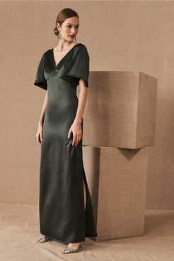 Monique Lhuillier Bridesmaids Caswell Dress In Forest - Size: 16 - at BHLDN