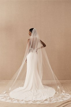 Lucine Cathedral Veil In Ivory - Size: One Size - at BHLDN