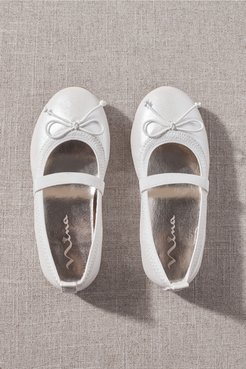 Nina Esther Flower Girl Flats In Ivory - Size: 11T - at BHLDN