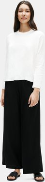 Lightweight Washable Stretch Crepe Wide-Leg Pant