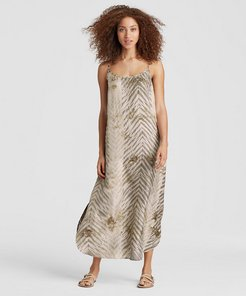 Exclusive Natural-Dyed Silk Maxi Dress
