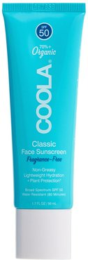 Classic Face Organic Sunscreen Lotion Spf 50