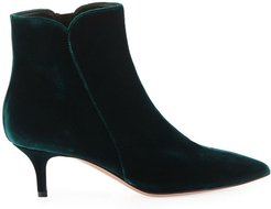 Velvet Pointed-Toe Bootie