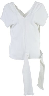 White Soothe Wrap Blouse