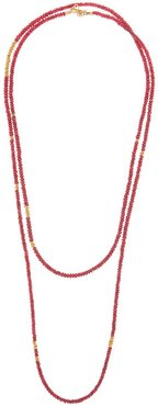 Ruby & 22kt gold beaded necklace