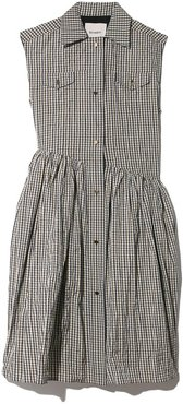Hella Dress in Gingham Taffeta