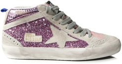 Mid Star Sneakers in Pink Glitter Cocco/Ice Star