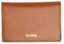 Textured Leather Clutch in Cognac
