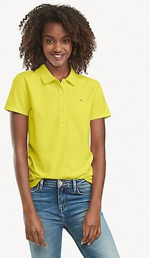 Regular Fit Essential Stretch Cotton Polo Lime - XL