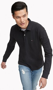 Classic Fit Essential Long-Sleeve Polo Jet Black - XXL