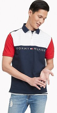 Classic Fit Essential Colorblock Polo Navy/White/Red - XL