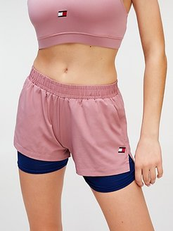 Water Repellant 2-In-1 Short Pink Dust - XL
