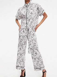 Zendaya Zodiac Pajama Set Bright White - M