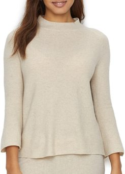 Cashmere Mock Neck Lounge Top