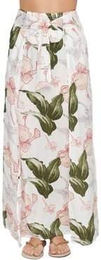 Floral Maxi Skirt Swim Cover-Up