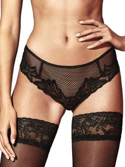 London Net Lace Pearl Brief