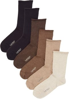 Roll-Top Trouser Socks 6-Pack