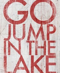 "Go Jump The Lake 20"" X 24"" Canvas Wall Art Print"